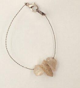 Bransoletka z kryształami różowego kwarcu, ludzie gór, żywioł ziemii, IMG_5319