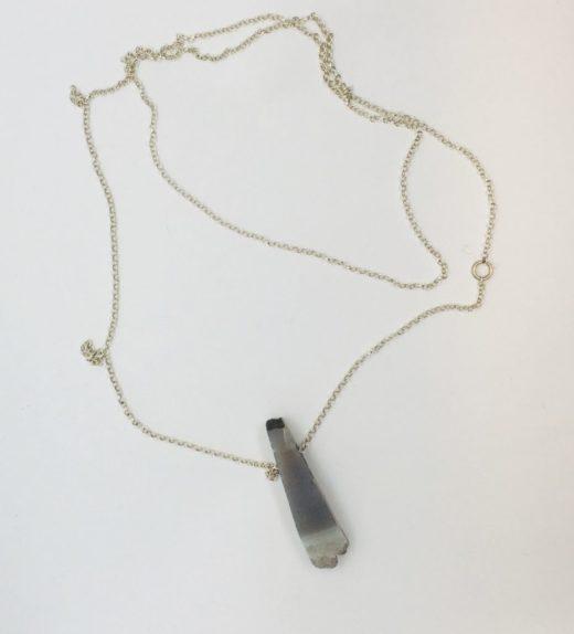 Długi naszyjnik z druzą agatową na łańcuszku, ludzie miasta, żywioł metalu, IMG_5417