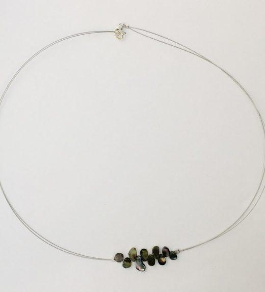 Krótki naszyjnik z turmalinem arbuzowym, ludzie lasu, żywioł ziemi, IMG_5302